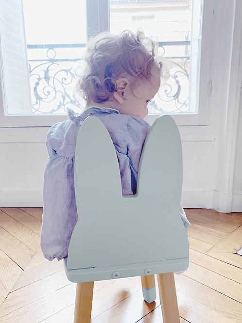Mini chaise lapin coloris bleu gris