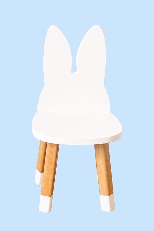 Mini chaise lapin coloris blanc
