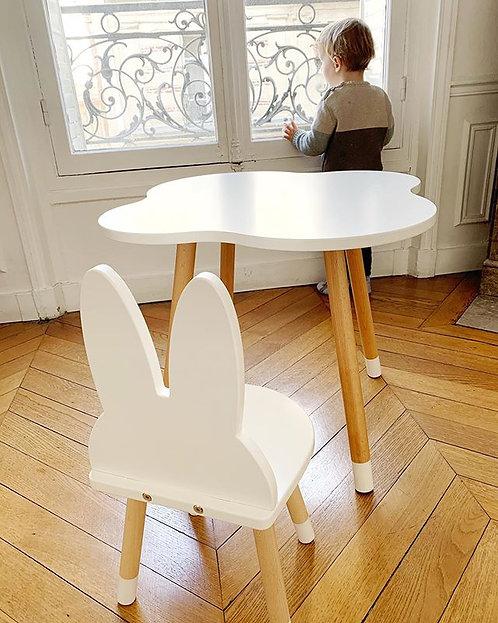 Ensemble bureau nuage blanc + 1 chaise