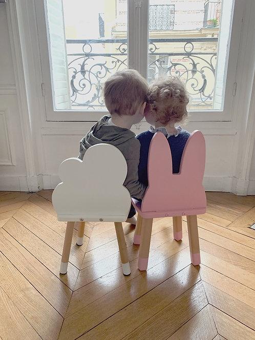 Ensemble deux mini chaises mixte Lapin Nuage