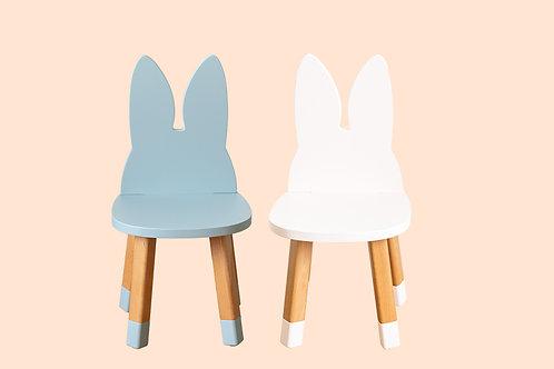 Ensemble deux mini chaises Lapin