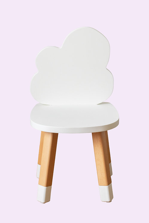 Mini chaise nuage coloris blanc