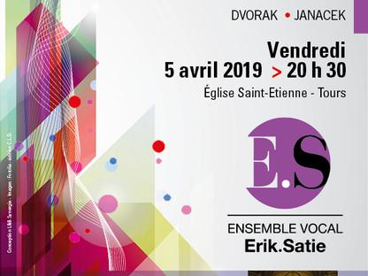 Prochain concert le 5 avril 20 h 30 Eglise St-Etienne - Tours Gounod - Dvorak - Janacek
