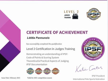Certifiée juge IPSF/PSF