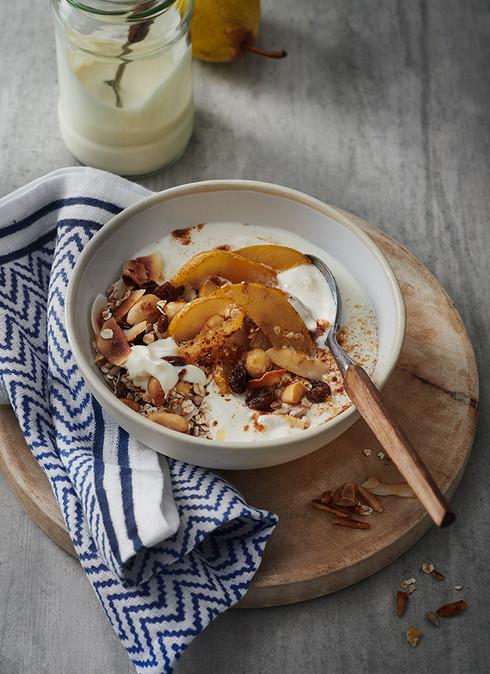 Birne-Muesli-Joghurt