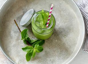 Grüner Minz-Smoothie