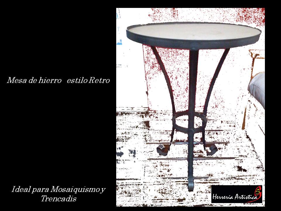 mesa de hierro para mosaiquismo