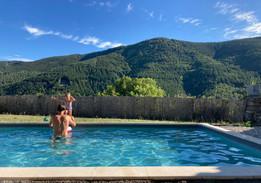 Ferme de Chalas - Vue de la piscine