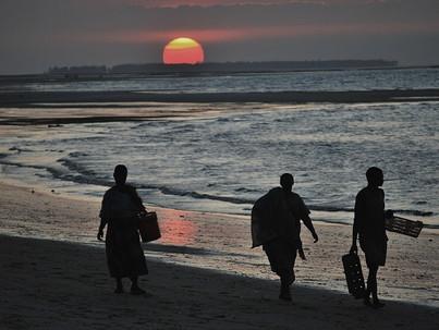 Paisajes de Tanzania. Atardecer en Mafia
