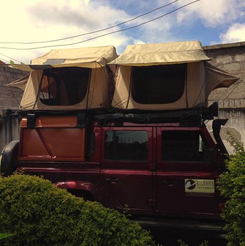 coches con tienda en el techo
