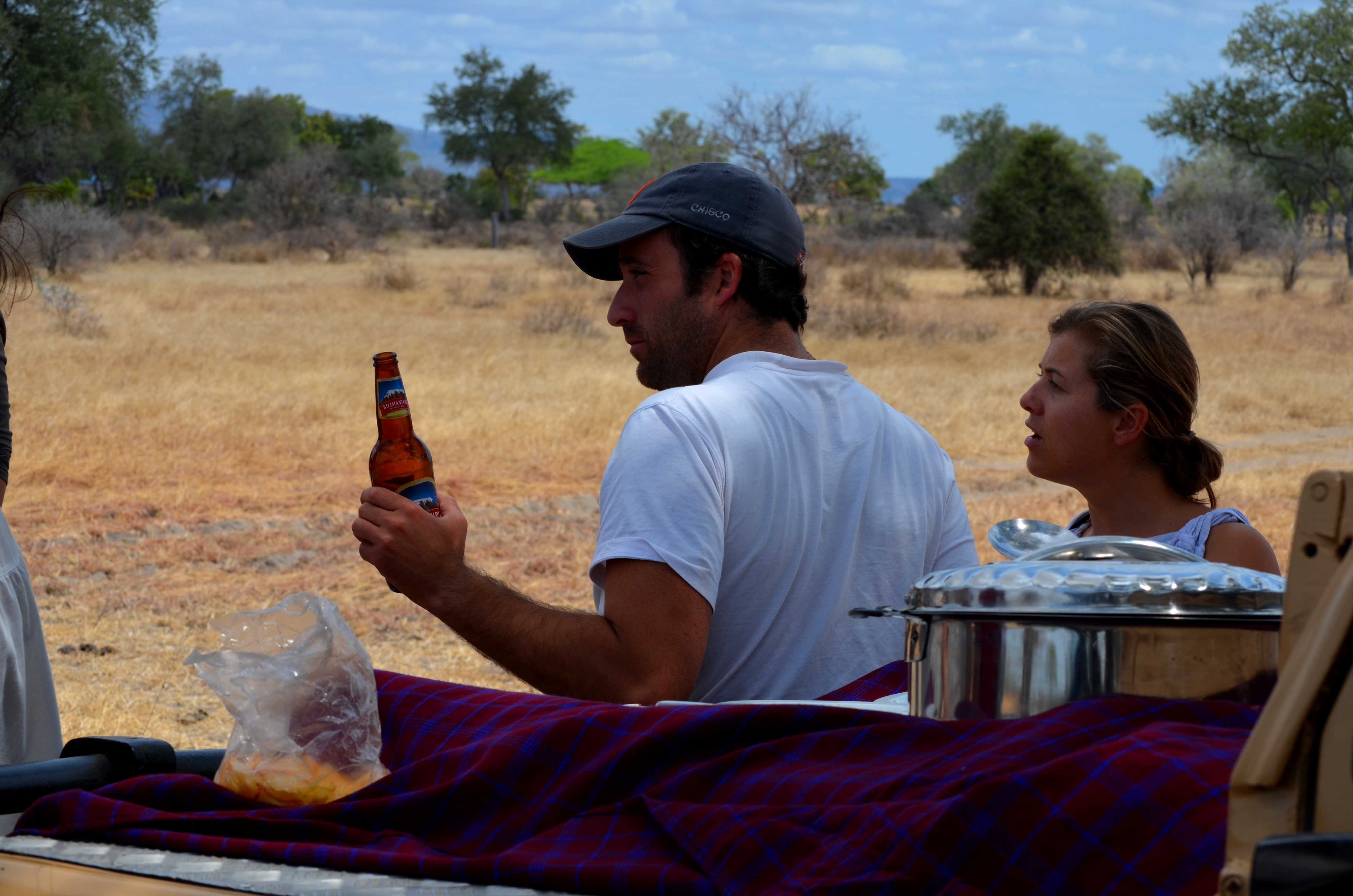 Picnic durante el safari en selous