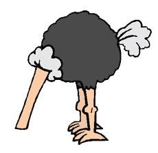 Fábula del avestruz que hunde la cabeza en la arena