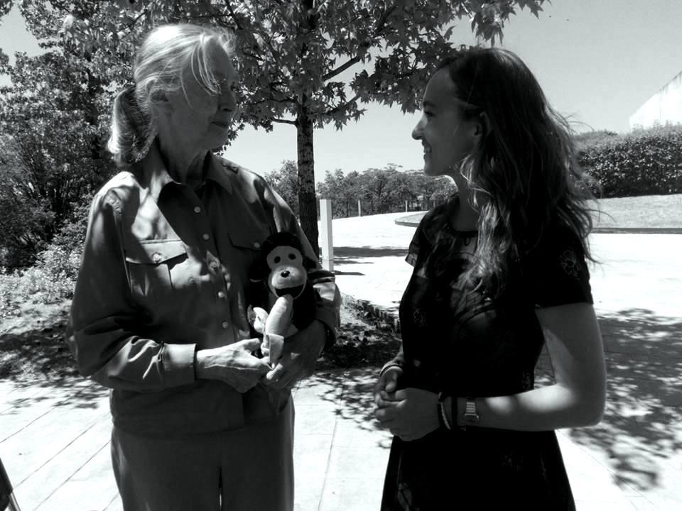 Nadia Kolotushkina y Jane Goodall