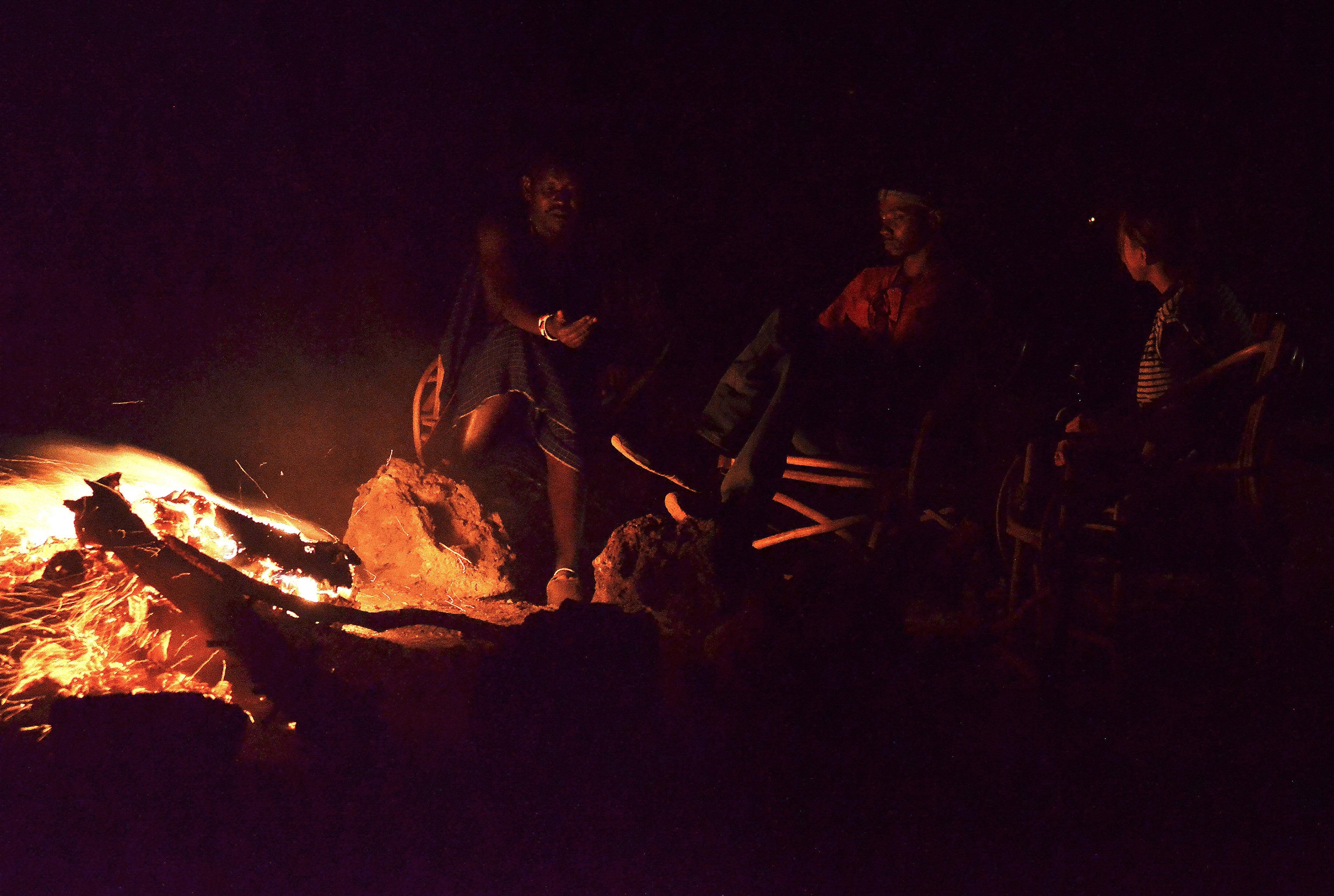 fuego de campamento trekking 5 días