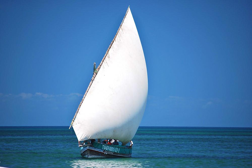 Dhow en Zanzibar