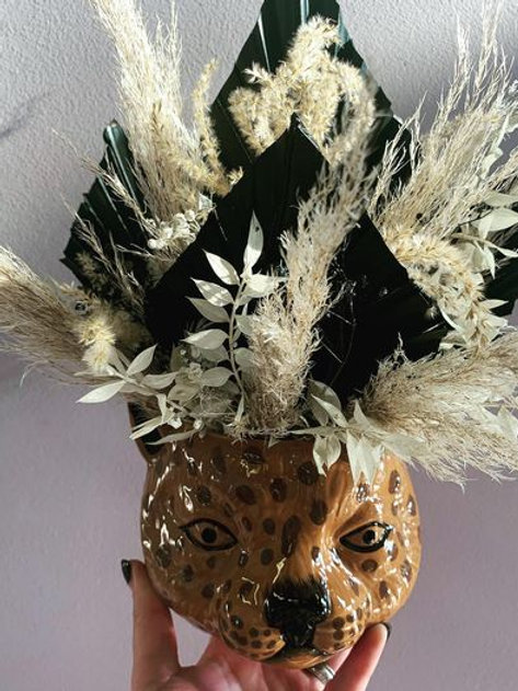 Leopard Head Dried Arrangement