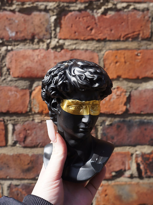Black and Gold David Head Bust