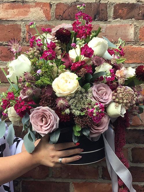 'Miss Havisham' Hat Box Bouquet