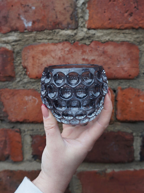 Bubble Effect Smoked Tealight Holders