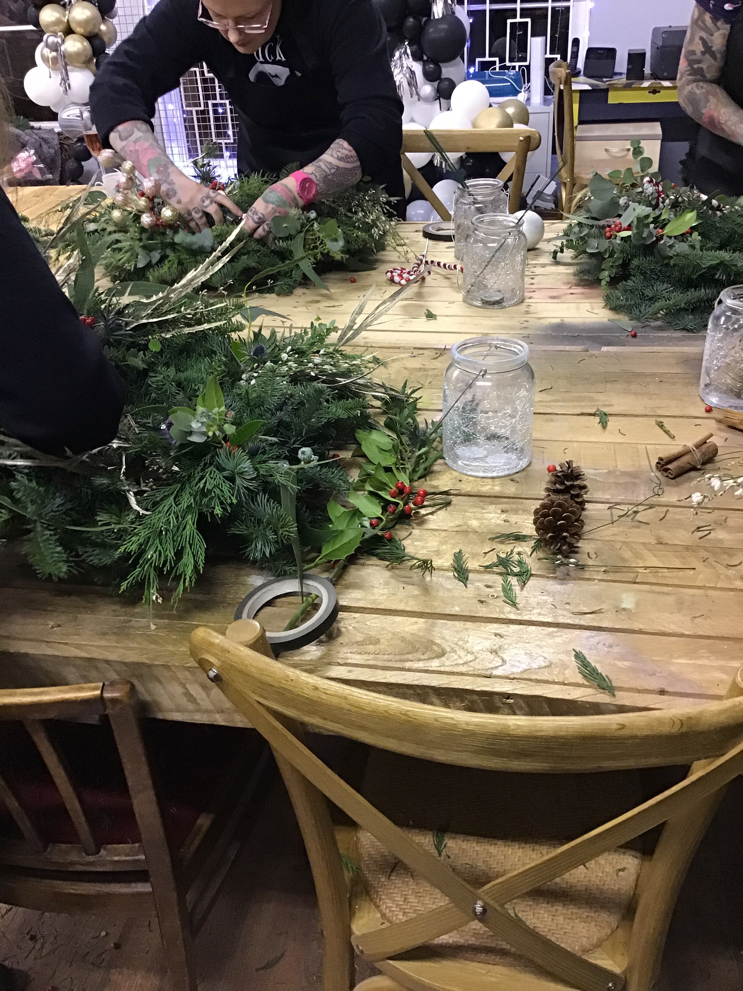Luxury Christmas Wreath Making Workshop