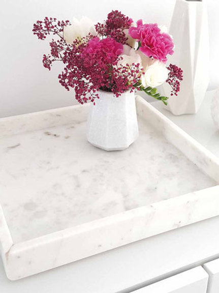 Real Marble Decorative Tray