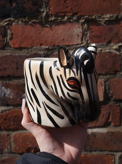 Zach the Zebra Ceramic Vase