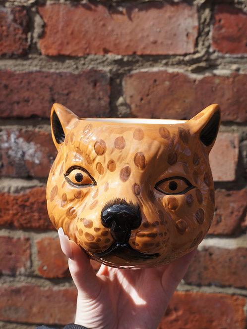 Leo the Leopard Ceramic Vase