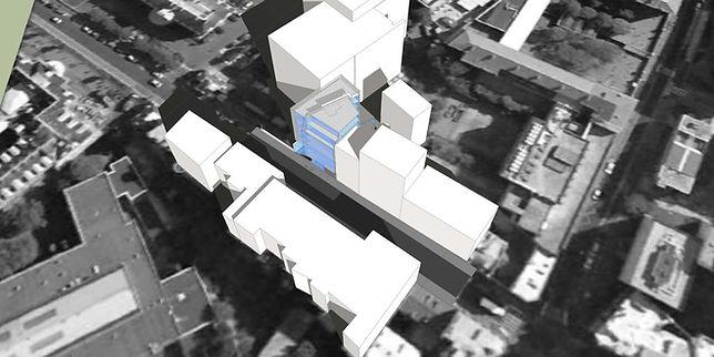 vue axonométrique étude pour la construction immeuble de rapport logements accession libre diffus par l'agence parisienne TNT Architecture, rue du docteur Roux à Paris 15, opération immobilère investisseurs