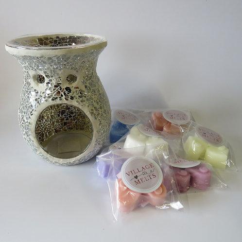 Silver Crackle Glass Bundle