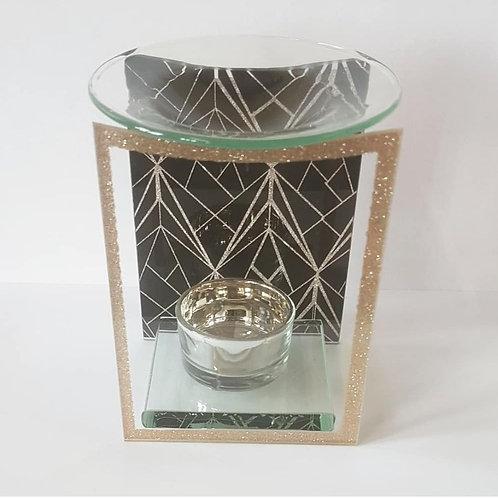 Black & Gold Glass Glitter Burner