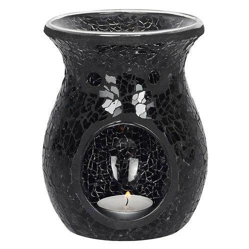 Black Crackle Glass Burner