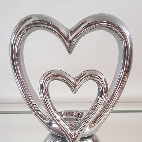 Double Heart Tealight Holder