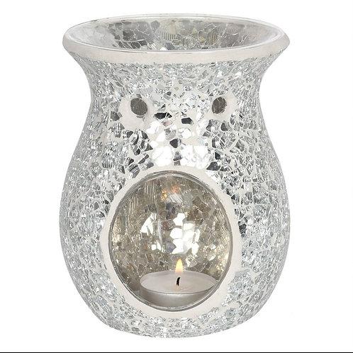 Silver Crackle Glass Burner