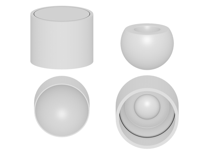 Indented Ball Mold File