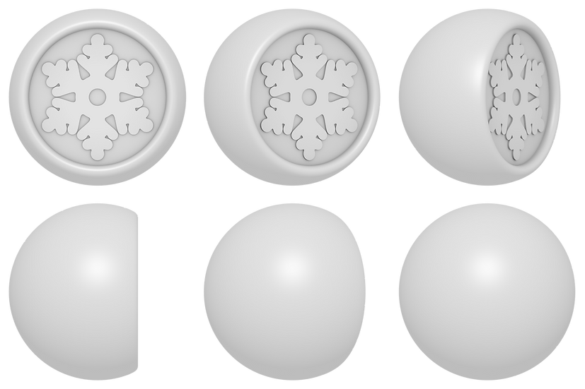 Snowflake Ball Mold Files
