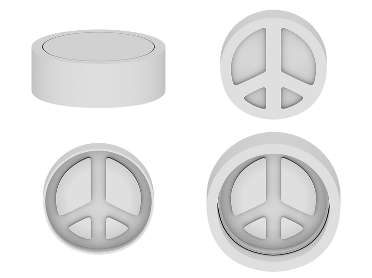 Peace Sign Mold File