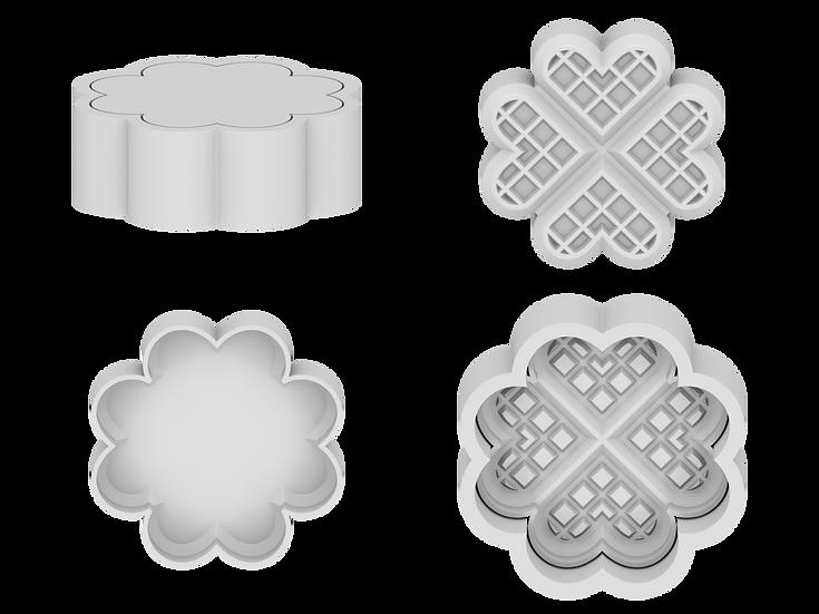 Waffle Hearts Mold File