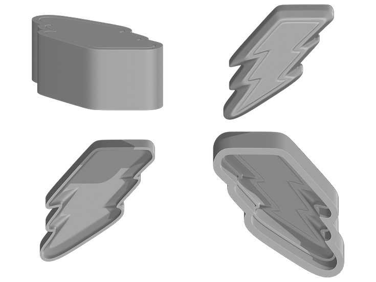 Lightning Bolt Mold Files