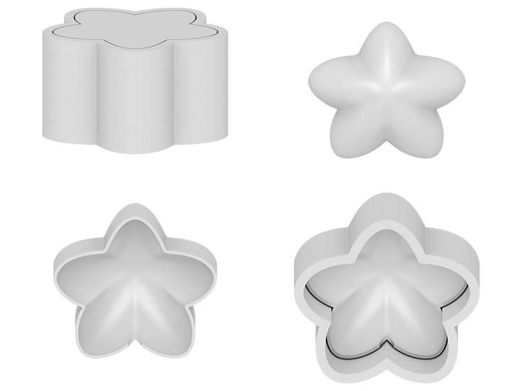 Star Lollipop Mold File