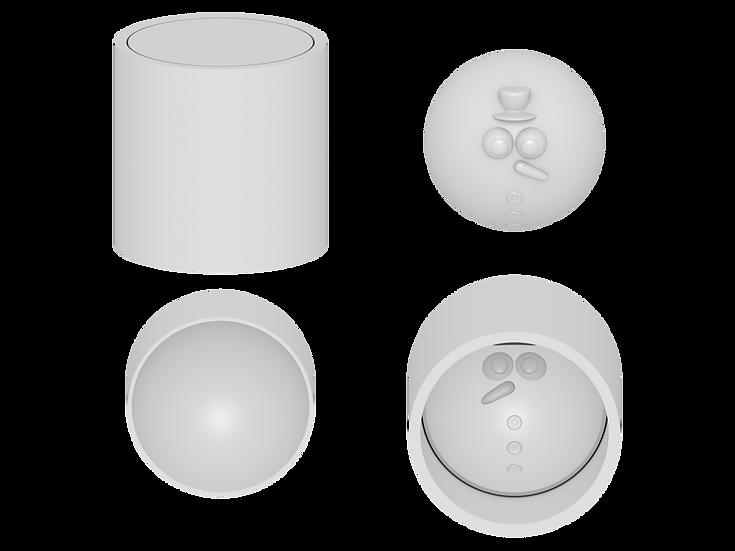 Snowman Ball Mold File