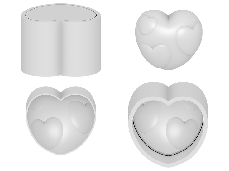 Hearts in Heart Mold File