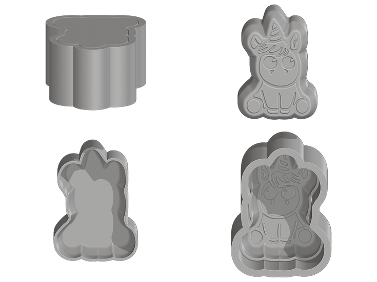Unicorn Flat Mold Files