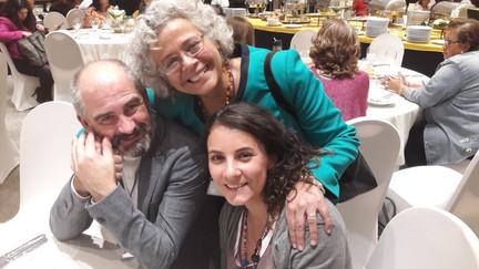 Enrique Sanz B. , Eva Obregon y Stephanie Galan en congreso internacional de aromaterapia, ciudad de mexico 2017