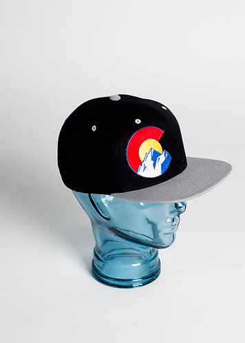 Colorado Mountains C Fitted Hats