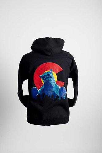 Blue Bear Zip Hoodie
