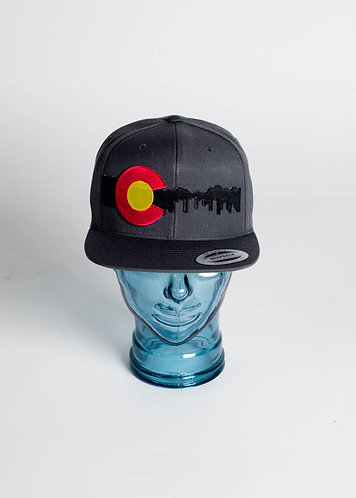 Denver Skyline (Black) Fitted Hats