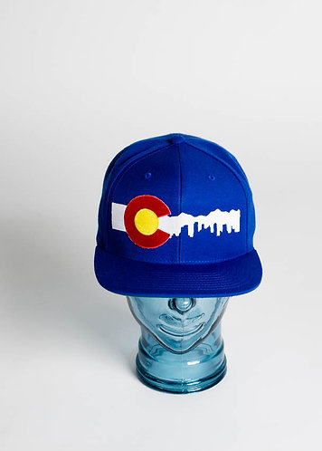 Denver Skyline (White) Fitted Hats