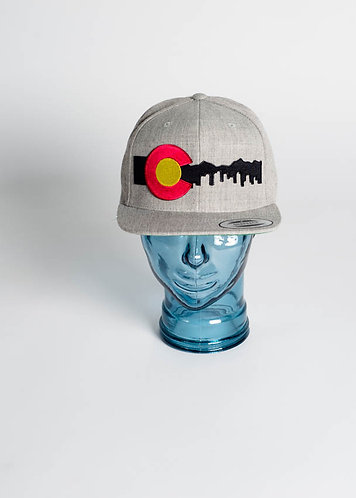 Denver Skyline (Black) Snapback Hats