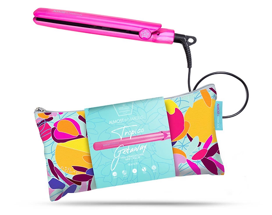 """0.5"""" Mini Flat Iron with Travel Carrying Bag"""