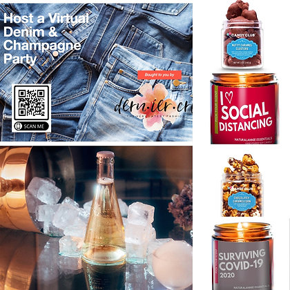 Denim  & Champaign Party Total Relaxation Box